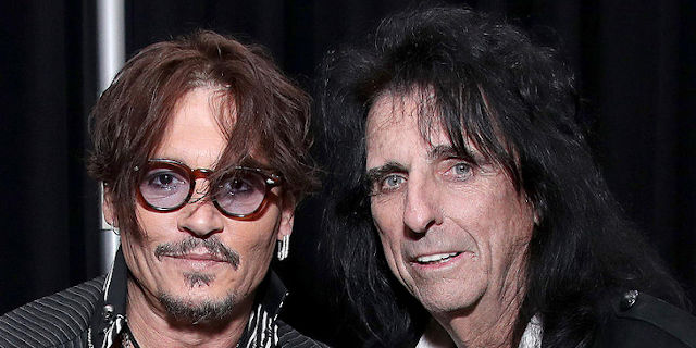 Johnny Depp a Alice Cooper